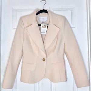 Carolina Herrera Blondwood Virgin Wool Blazer